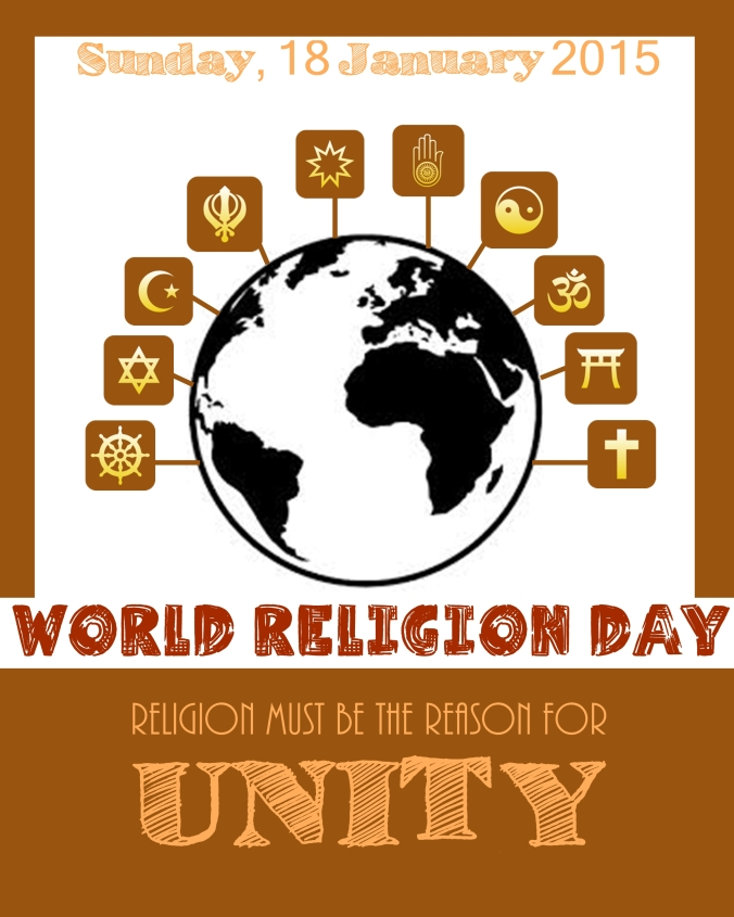 World Religion Day, Sunday, 18th January 2015